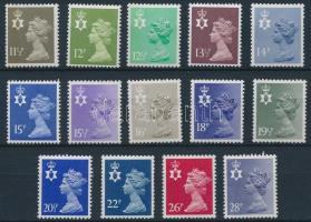 Észak-Írország 1980-1983 Regionális bélyegek Mi 27-40