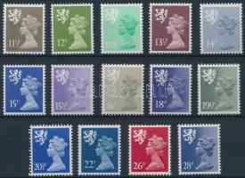 Skócia 1980-1983 Regionális bélyegek Mi 29-42