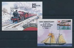 1988-1996 2 klf blokk Vonat és hajó motívummal 1988-1996 2 blocks Train and Ship