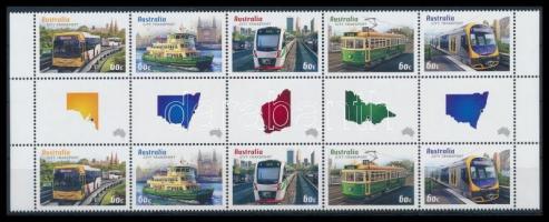 Transport margin block of 10, Szállítás ívszéli tízestömb ívközéprésszel