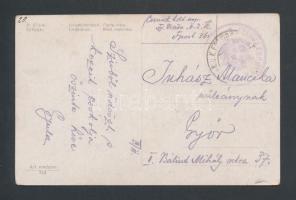 ~1917 Tábori posta képeslap K.u.k. FELDJÄGERENT