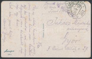 1917 Tábori posta képeslap K.u.k.Feldjäger bataillon Nr.11. + FP 361 a