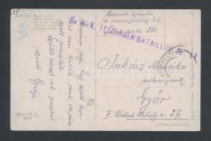 ~1917 Tábori posta képeslap K.u.k. FELDJÄGER BATAILLON Nr.11.