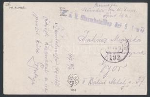 1917 Tábori posta képeslap K.u.k. Sturm bataillon des 16. Korps + FP 192