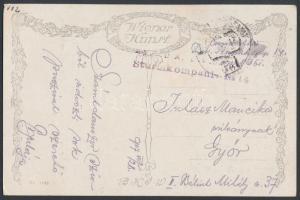 1917 Tábori posta képeslap K.u.k. Sturmkompanie No.14. + FP 361