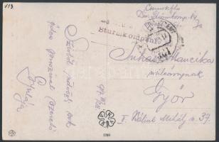 """Field postcard """"K.u.k. Sturmkompanie No.14."""" + """"FP 361"""", Tábori posta képeslap """"K.u.k. Sturmkompanie No.14."""" + """"FP 361"""""""