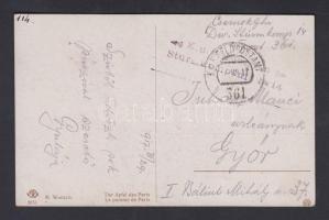 1917 Tábori posta képeslap K.u.k. Division Sturmkompanie No.14. + FP 361