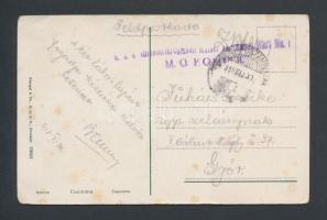 1918 Tábori posta képeslap M.G. KOMP II.