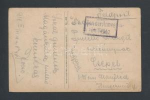 1918 Tábori posta képeslap Vonder Armee im Felde
