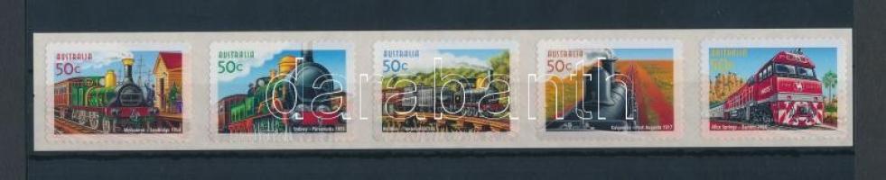 Locomotive self-adhesive stripe of 5, Mozdony öntapadós ötöscsík