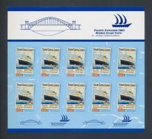 Stamp Exhibition self-adhesive foil sheet, Bélyegkiállítás öntapadós fóliaív