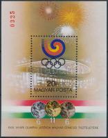 1988 Olimpiai érmesek (V.) Szöul ajándék blokk / Mi block 201 present of the post (15.000)