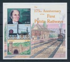 Railway mini sheet, Vonat kisív