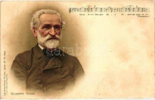 Giuseppe Verdi, Gebrüder Obpacher Serie 45. No. 18317. litho (cut)