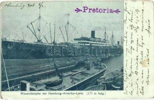 Riesendampfer der Hamburg-Amerika-Linie / USS Pretoria (b)