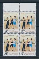 40th anniversary of Camagüey Ballet margin block of 4, 40 éves a Camagüey-i balett ívszéli négyes tömb