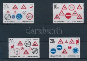 Közlekedési jelzőtáblák sor, Traffic signs set