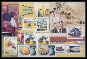 6 stamps + 5 blocks, 6 klf bélyeg + 5 db blokk