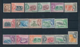 1954 Mi 138-152 (140 színváltozattal) + 154