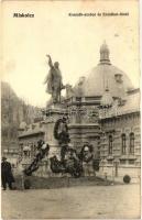 Miskolc, Kossuth szobor, Erzsébet fürdő