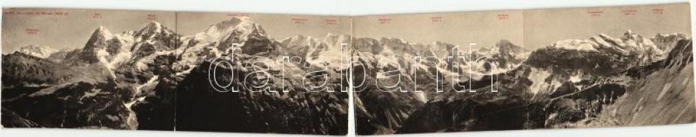 Mürren, four-tiled panoramacard