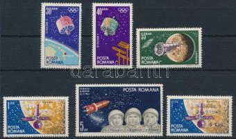 1965 Űrkutatás sor + 1 felülnyomott érték Mi 2369-2374 + 2395