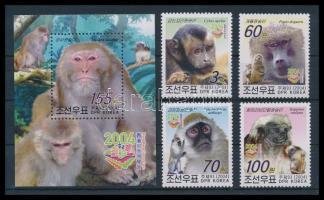 Monkeys set + block, Majmok sor + blokk