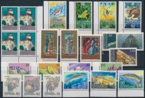 24 stamps, 24 db klf bélyeg, közte teljes sorok és ívszéli értékek