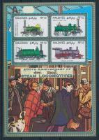 Locomotive minisheet, Mozdony kisív