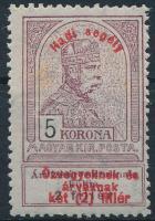 1914 Hadisegély (I) 5K (foltos / stain)