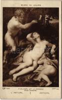 Antiope / Erotic nude art postcard s: A. Allegri
