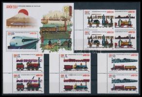 International Stamp Exhibition, Philanippon 5 values margin pairs + block, Nemzetközi bélyegkiállítás, Philanippon 5 érték ívszéli párokban + blokk