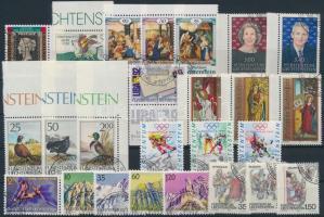 1990-1991 25 stamps, 1990-1991 25 db bélyeg, közte teljes sorok és ívszéli értékek