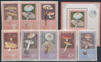 1987-1988 2 klf Gomba sor Mi 110-113 + 145-148 + blokk 2