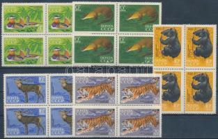 1970 Állat sor négyestömbökben Mi 3787-3791
