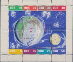 1962 Űrkutatás kisív Mi 926-933 (kis szakadás az ívszélen)