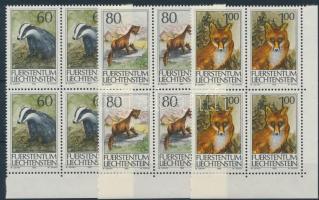 Huntable animals set corner blocks of 4, Vadászható állatok sor ívsarki 4-es tömbökben