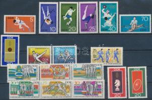 1968-1970 Sport kis tétel: 2 klf önálló érték + 4 klf sor