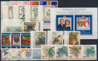 1992-1993 9 issues, 1992-1993 9 klf kiadás, közte teljes sorok, ívszéli értékek + blokk