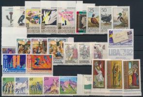 1990-1994 28 stamps, 1990-1994 28 db bélyeg, közte teljes sorok, ívszéli értékek + blokk