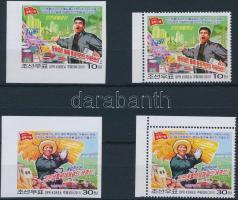 Newspaper 2 perf and 2 imperf stamps, Újság 2 fogazott és 2 vágott bélyeg