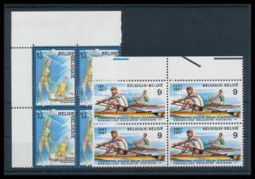 1987 Sport sor ívszéli 4-es tömbökben Mi 2311-2312