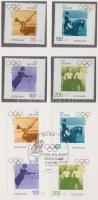 1996 100 éves az Újkori Olimpia sor + sor emlék kiadványban elsőnapi bélyegzéssel Mi 1861-1864