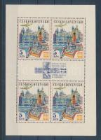 International Stamp Exhibition, Prague minisheet, Nemzetközi bélyegkiállítás, Prága kisív