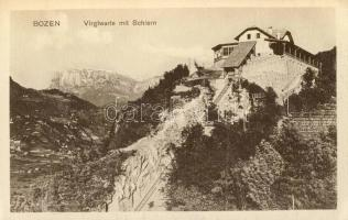 Bolzano, Bozen; Virglwarte, Schlern / funicular station, mountain stop