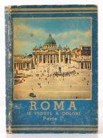 Roma 32 Vedute a Colori Parte I. Képes leporelló Róma városáról. Öt nyelvű leírásokkal. Kopott papírkötésben.