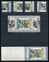 Centenary of Railway Jaffa-Jerusalem set and stamp-booklet + block, 100 éves vasútvonal Jaffa-Jeruzsálem sor és bélyegfüzet + blokk