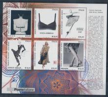 2002 Olasz design (III.) Női divat blokk Mi 30