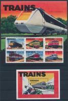 Locomotive minisheet + block, Mozdony kisív + blokk