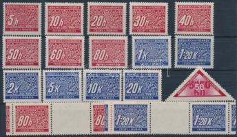 Böhmen und Mähren 1939 Portó sor + 2 klf ívközéprészes pár + bélyeg Mi 1-14, 15